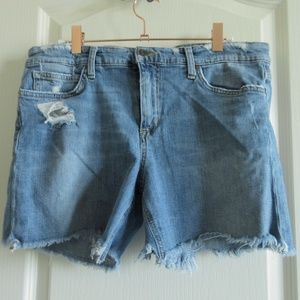 Joe's Denim Jean Short Cutoff Distressed Destroyed